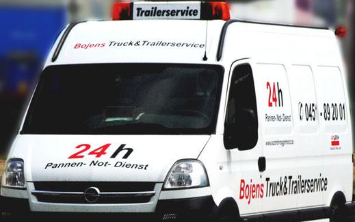 Bojens trailerservice und luebeck 24 H Panner- Not- Dienst Als eingetragene Partner von Falck-Euroservice und EBS (European Breakdown Service) kümmern wir uns um Ihr Anliegen. Dazu gehört die Reifenpanne genauso wie defektes Licht am Trailer, defekte Stützbeine, Motorprobleme etc.